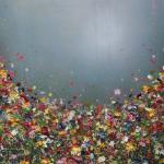 Floating Hearts - Lee Herring - Wychwood Art - Impasto Painting