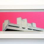 Little London, National Theatre, brushed aluminium print with wood frame, michael wallner, Wychwood Art