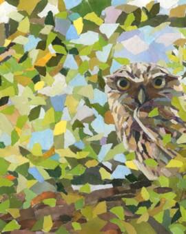 Little-Glimpse-Owl-Art-Collage-Paul-Bartlett-Artist-Wychwood-Art-Gallery