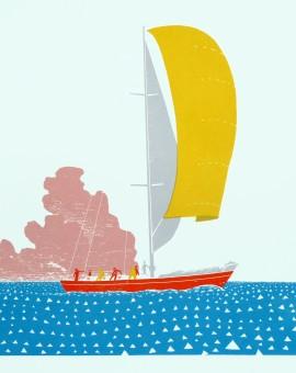 Simon Tozer Demeter ship screenprint Wychwood art