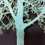 Blue-Oak-Tree-Mixed-Media-Museum-Frame-Blue-Art
