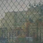 Trevor Banthorpe, Fence, Woodblock print, 45x60cm, £450