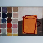 B06 orange mug with coloured squares, unframed_LR