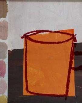 B06 orange mug with coloured squares_THUMBNAIL
