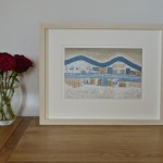 Five Sail Boats Framed
