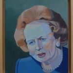 Margaret Crutchley  Margaret Thatcher, framed