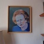 Margaret Crutchley  Margaret Thatcher, on wall 1