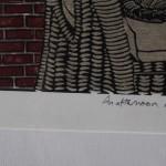 Michael Atkin, An Afternoon Nap, Cat Art, Prints of Cats, Contemporary Etching Prints, Michael Atkin 2