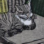 Michael Atkin, An Afternoon Nap, Cat Art, Prints of Cats, Contemporary Etching Prints, Michael Atkin 4