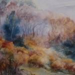 Wychwood Art Angela Perrin edge of the moor watercolour on canvas 66 x 56 cms (4)