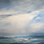 breaking cloud over sea