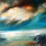 Descending light over sea