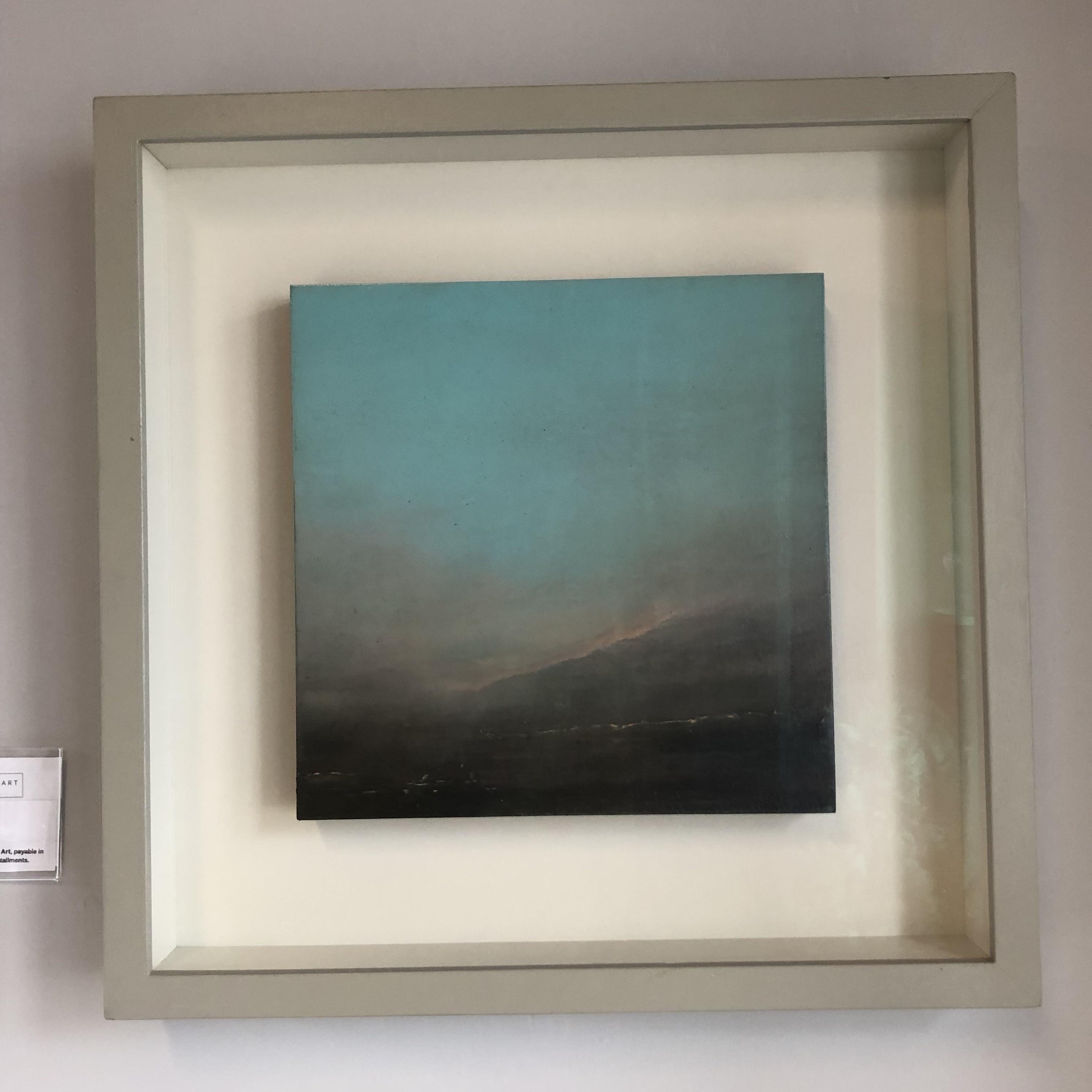 "Richard Whadcock, ""Toward Eventide"" Oil on panel, 30x30cm, framed landscape painting."