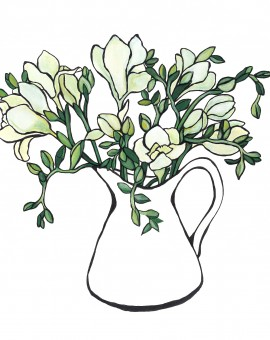 Jug of Freesias