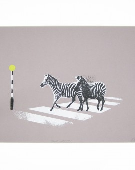 Katie Edwards-Zebra Crossing-Screen print