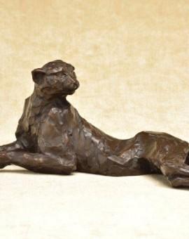 Tarangire Cheetah (h15xw40xd20cm)bronze resin    £775