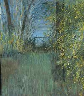 Gate to the lake lacacau gironde France judith yarrow limited edition print