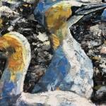 Out of Chaos Comes Order by Paul Bartlett - Limited Edition Print - Animal Art - Bird Art - Bird Island Art - Family Art - Close Up