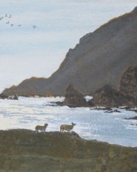 fitful head shetland evening judith yarrow painting