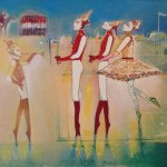 Ballet suite.Far from the madding crowd.acrylic on canvas.16insx12insGerard Tunney.£450