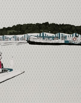 Boats Bobbing alond