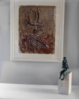 Kate Knott, Fallow Deer, Animal Art