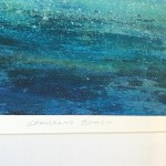 close up of Michael Sanders print Sparkling beach