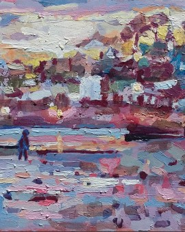 Penzance Half Light 3- oil on board- 35cm x 25cm
