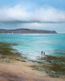 Rockpools St Mawes limited edition print by Michael Sanders