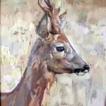 Roe buck pastel