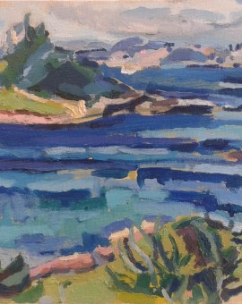 The Mount- oil on canvas 2014- 30cm x 23cm