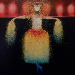 The wig mistress.acrylic on canvas.16ins.x12ins.£450.Gerard Tunney