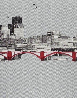 A limited edition print of London by Clare Halifax