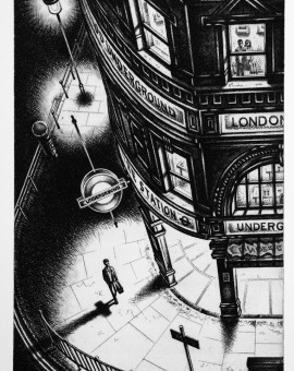 Late Night London Etching 2011 38 x 25 cm (15 x 10   inch)