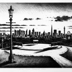 London from Primrose Hill Etching 40.5 x 61 cm (16 x 24   inch)