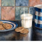 Milk and cookies before bed, Lisa Bloomer, Wychwood Art