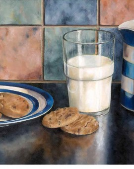 Milk and cookies before bed, Lisa Bloomer, Wychwood Art