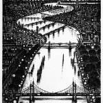 Thames Bridges East Etching 2015 61 x 46 cm (24 x 18    inch)