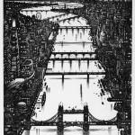 Thames Bridges Etching 2014 61 x 46 cm (24 x 18 inch)