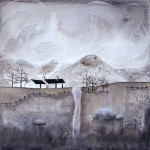 Anya Simmons-Black Rock Cottage-Open Print-Wychwood Art