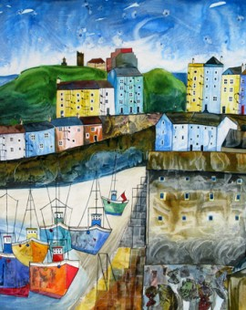 Anya Simmons-Memories of Tenby-Limited Edition Print-Wychwood Art