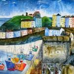 Anya Simmons-Memories of Tenby-Open Print-Wychwood Art