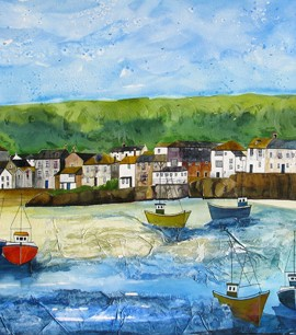 Anya Simmons-Mousehole Cornwall-Open Print-Wychwood Art