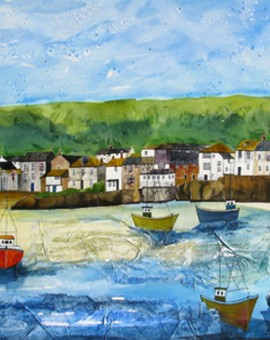 Anya Simmons-Mousehole Cornwall-Original-Wychwood Art