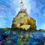 Anya Simmons-Polar Lighthouse-Open Print-Wychwood Art