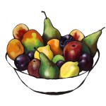 Colourful fruit bowl