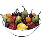 Fruit Bowl with cherries
