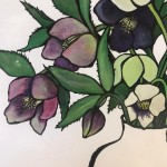 Small Vase of Hellebores, Lucy Routh 5