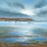 Michael Sanders Nare Head, Carne Beach Wychwood Art beach limited edition print buy art online