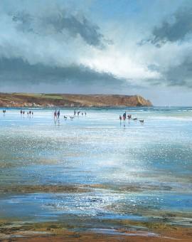 Michael Sanders Nare Head, Carne Beach Wychwood Art beach limited edition print buy art online